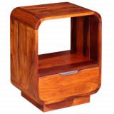 Cumpara ieftin Noptieră cu sertar, lemn masiv de sheesham, 40 x 30 x 50 cm