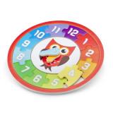 Puzzle Lemn Ceas - Bufnita, New Classic Toys