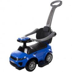 Masinuta sport fara pedale cu control parental detasabil, depozitare jucarii si spatar Sun Baby - Albastru