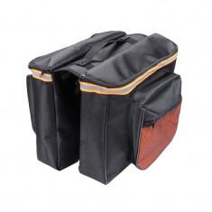Geanta dubla pentru bicicleta Bicycle Bag, 4 buzunare, banda reflectorizanta