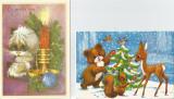 România, 2 felicitări duble de Crăciun 1