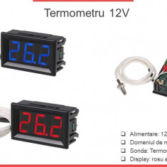Termometru 12V -30 500 grade