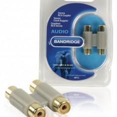 Adaptor audio mono 2x RCA Mama - 2x RCA Mama Bandridge BAP122