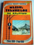 1988-1989 Mersul trenurilor de calatori CFR, Caile Ferate Romane