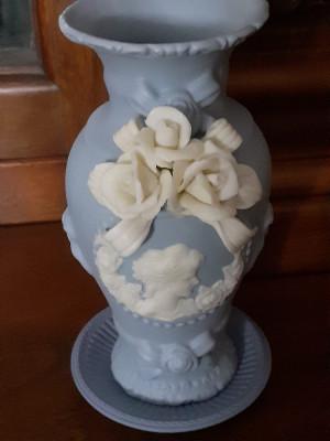 Vaza + farfurioara, foarte frumoase, englezesti - WEDGOOD foto