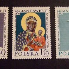 Polonia, papa Ioan Paul al II-lea, Maica Domnului, crucifix, 2000, MNH