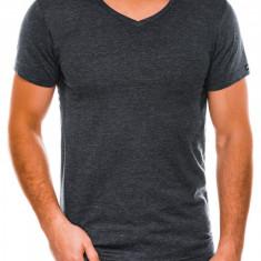 Tricou slim fit barbati S1041 - negru