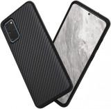 Husa pentru Samsung Galaxy S20 Plus,Perfect Fit,cu insertii de carbon, negru,NOU