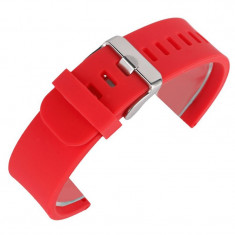 Curea din silicon compatibila cu Fitbit Versa, Telescoape QR, 22mm, Live Red