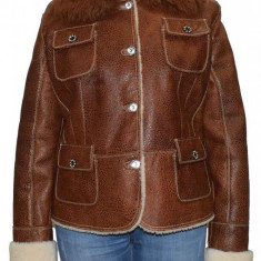 Cojoc dama, din blana naturala, marca Kurban, 33-02-95, maro XL