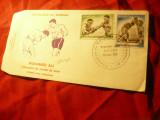 Plic FDC -Box - Meciul Mahomed Ali si G.Foreman 1977 Senegal
