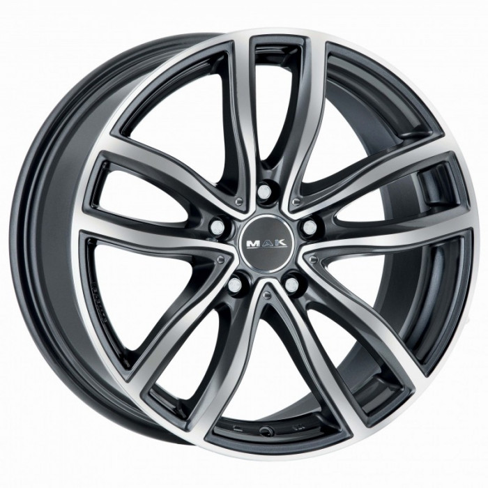Jante BMW Seria 5 Touring Staggered 8J x 18 Inch 5X120 et30 - Mak Fahr Gun Met-mirror Face - pret / buc