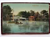 Carte postala (dupa sticla) + Fotografie: Buzias Furdo 1919