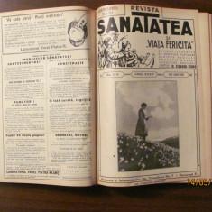 """PVM - Colegat """"Revista Sanatatea"""" mar. 1934 - ian. 1935 / 11 numere consecutive"""