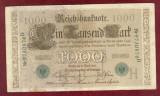 Bancnota Germania  -  REICHSBANKNOTE   - 1.000 MARK  1910 - Serie VERDE