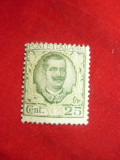 Timbru Italia 1926 Rege V.Emanuel III val.25C sarniera, Nestampilat
