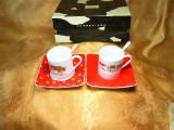 Set ceai cafea portelan fin, Cow Parade, colectie, cadou, vintage