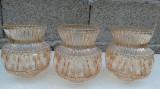 Lot 3 abajururi abajur glob sticla chihlimbar ptr lustra veche, veioza, lampa