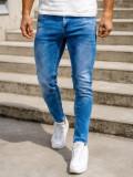 Blugi bleumarin bărbati skinny fit Bolf KX398
