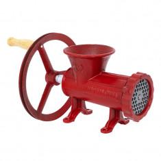 Masina manuala de tocat carne Micul Fermier, nr. 32, fonta, cutit cu 4 lame