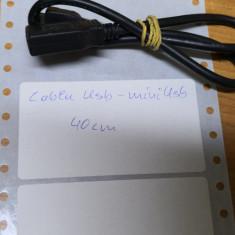 Cablu Usb - mini Usb 40 cm
