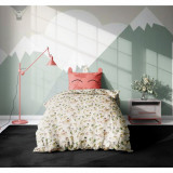 Set 3 piese lenjerie pat copii Viada Unicorn, 150 x 200 cm