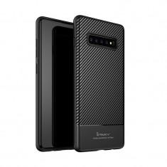 Husa Samsung Galaxy S10 Plus, iPaky, Carbon Flexibil, Negru