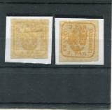 1862/64 , ROMANIA ,  PRINCIPATELE UNITE , 3 PAR   -  URME SARNIERA, Nestampilat