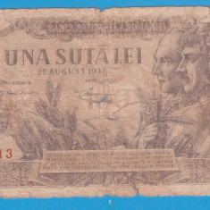 (10) BANCNOTA ROMANIA - 100 LEI 1947 (27 AUGUST 1947)