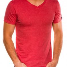 Tricou slim fit barbati S1041 - corai