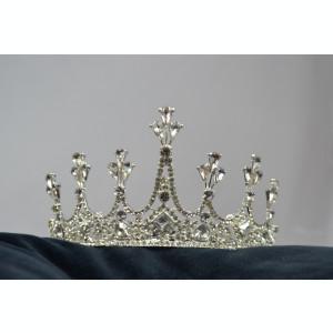 Coronita Mireasa Argintie cu pietre si piepten