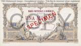 REPRODUCERE  bancnota specimen 1000 lei 1933