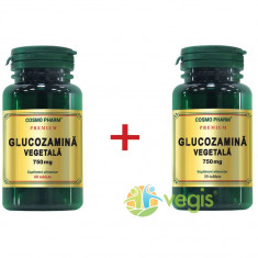 Glucozamina Vegetala 750mg Premium 60cpr+30cpr Pachet 1+1