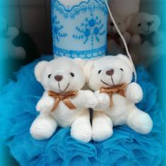 Lumanare de botez pentru fetite si baieti - ALBASTRU2464