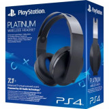 Casti gaming wireless SONY PS4 Surround 7.1, Platinum