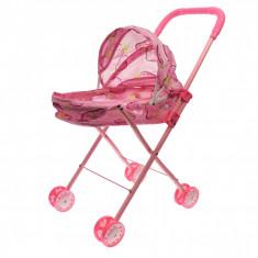Carucior de jucarie pentru papusi, roz - 839M