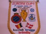 Fanion fotbal Club Brugge - Brøndby IF, Europa Cup,1988