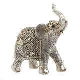 Elefant decor din rasina Silver Gold 22cm x 10cm x 25cm