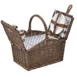 Cos de picnic Romantic Brown pentru 2 persoane 40 cm x 28 cm x 26 cm