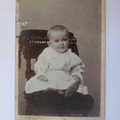 Rară! Fotografie pe carton 107 x 67 mm studio Cernăuți(ocup.Austriaca) cca.1900