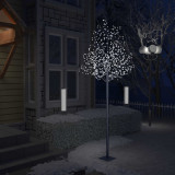 vidaXL Pom Crăciun, 600 LED-uri alb rece, flori de cireș, 300 cm