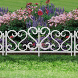Bordura Gardulet Decorativ Plastic pentru Gazon sau Flori, Dimensiuni 62x32cm, Alb