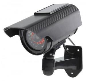 Camera de supraveghere falsa CCTV cu panou solar si LED-uri IR