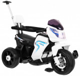 Motocicleta electrica cu pedale si maner parental HL108, alb