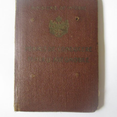 Permis regalist de conducere pentru automobile complet cu foto si taxe din 1938