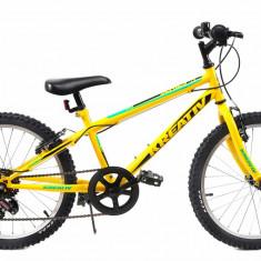 Bicicleta Copii Kreativ 2013 Galben Verde 20 inch