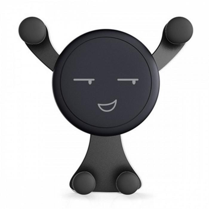 Suport auto, pentru mobil, universal, Smiley, negru