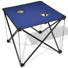 Masă pliabilă pentru camping, albastru