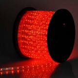 Furtun Luminos de Craciun 100m 2300LED Rosii Cilindric 2Pini