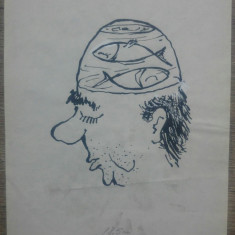 Caricatura// tus pe hartie, Gheorghe Chiriac